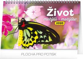 Stolní kalendář Život motýlů - motýlov CZ/SK 2020