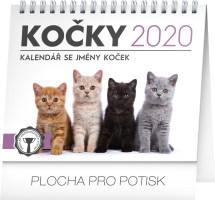 Stolní kalendář Kočky - se jmény koček 2020