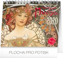 Stolní kalendář Alfons Mucha 2020