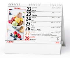 Stolní kalendář- Nepraktický bez číslic