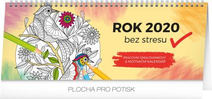 Stolní kalendář Rok bez stresu 2020, s omalovánkami