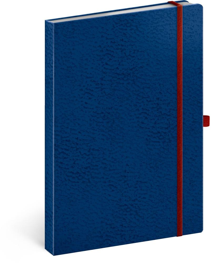 Notes Vivella Classic modrý/červený, linkovaný 2019