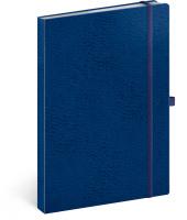 Notes Vivella Classic modrý/modrý, linkovaný