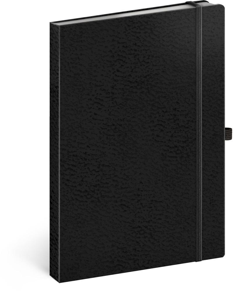 Notes Vivella Classic černý/černý, linkovaný 2019