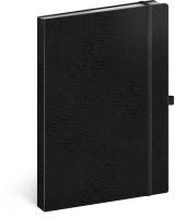 Notes Vivella Classic černý/černý, linkovaný
