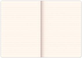Notes Vivella Classic červený/červený, linkovaný