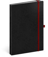 Notes Vivella Classic černý/červený, linkovaný