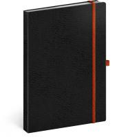 Notes Vivella Classic černý/oranžový, linkovaný