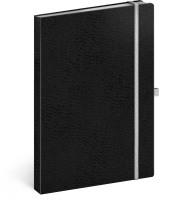 Notes Vivella Classic černý/bílý, linkovaný