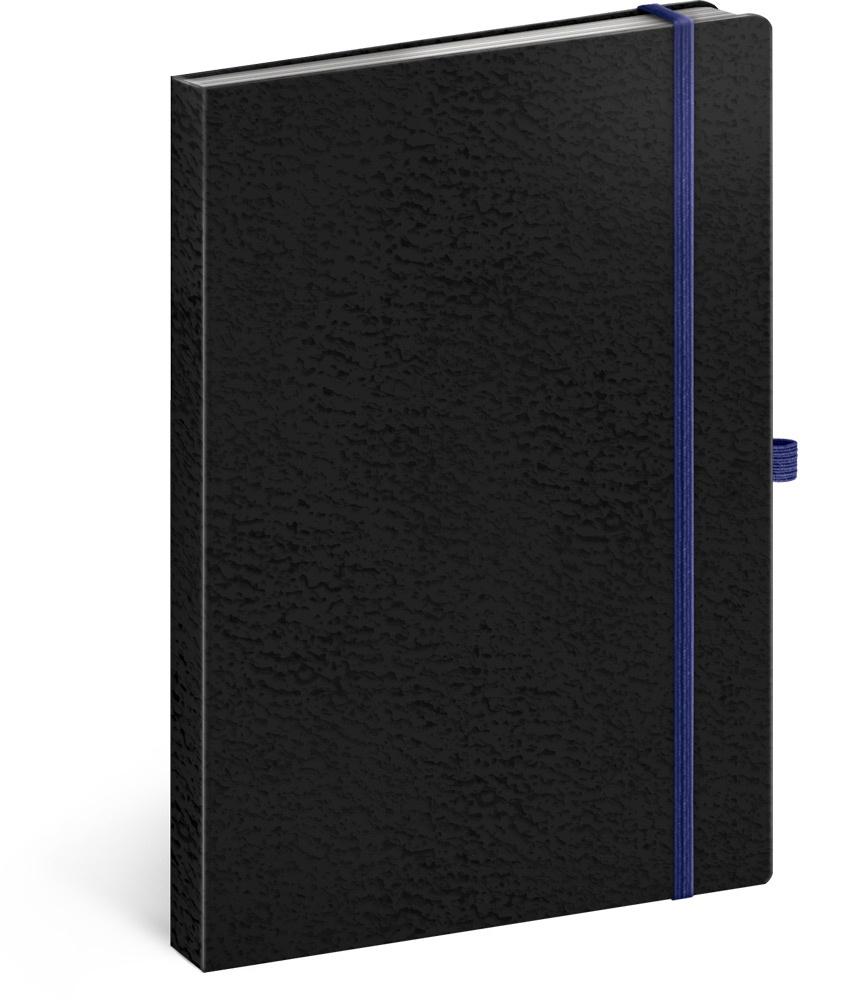 Notes Vivella Classic černý/modrý, linkovaný 2019