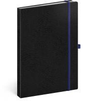 Notes Vivella Classic černý/modrý, linkovaný