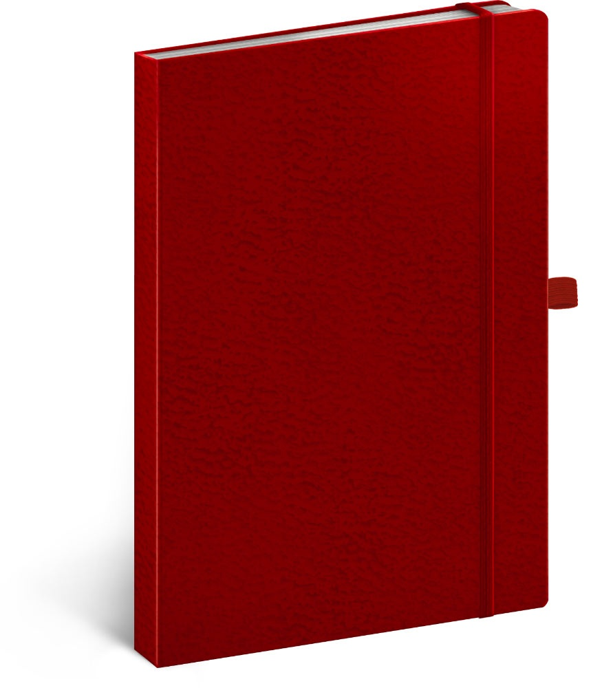 Notes Vivella Classic červený/červený, tečkovaný 2019