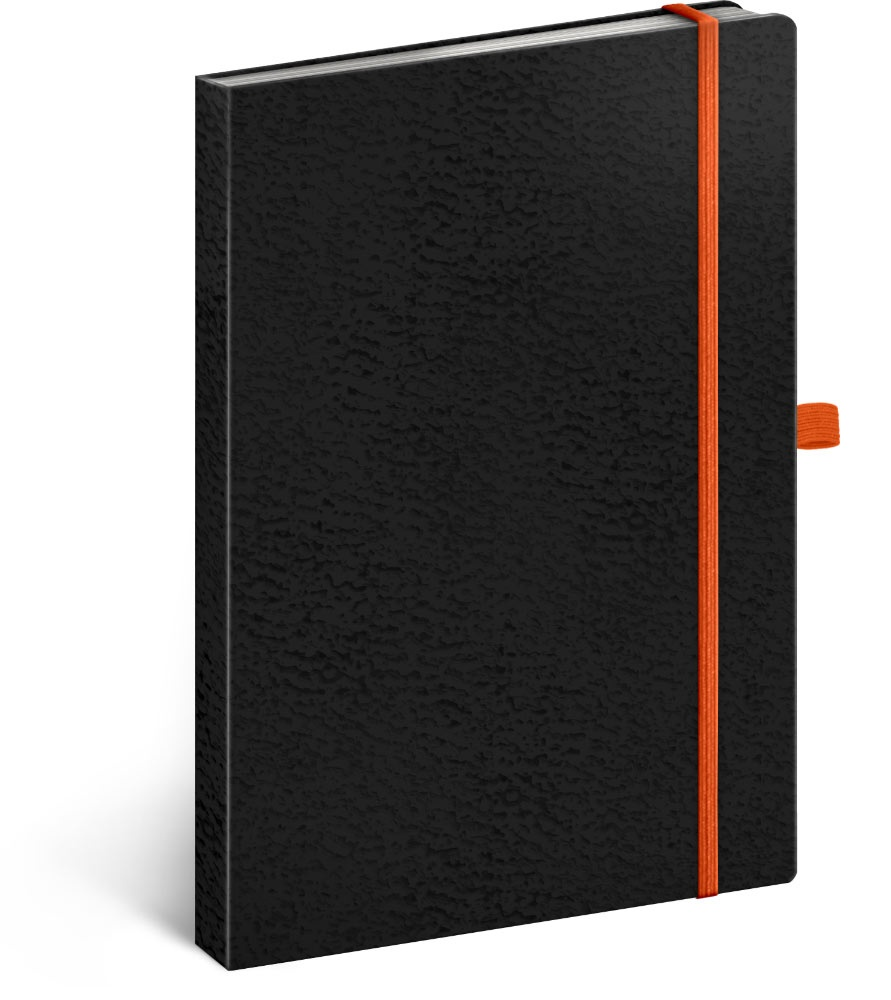 Notes Vivella Classic černý/oranžový, tečkovaný 2019