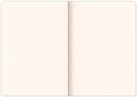 Notes Vivella Classic černý/oranžový, tečkovaný