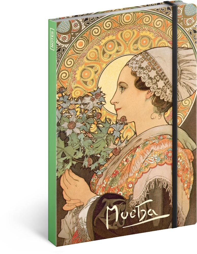 Notes Alfons Mucha - Bodlák, linkovaný 2019