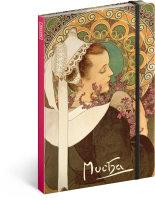 Notes Alfons Mucha - Vřes, nelinkovaný