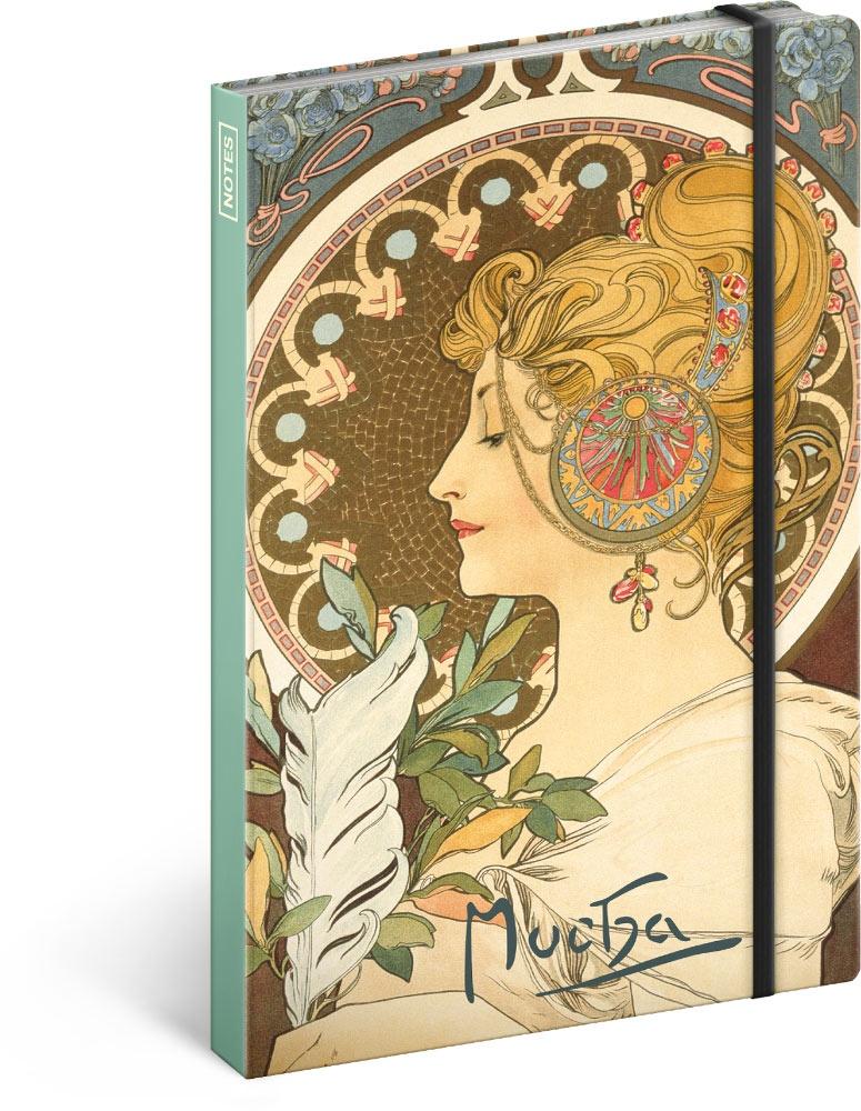 Notes Alfons Mucha - Pero, nelinkovaný 2019