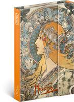 Notes Alfons Mucha - Zodiak, linkovaný