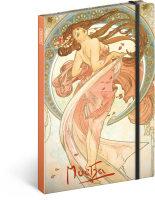 Notes Alfons Mucha - Tanec, linkovaný