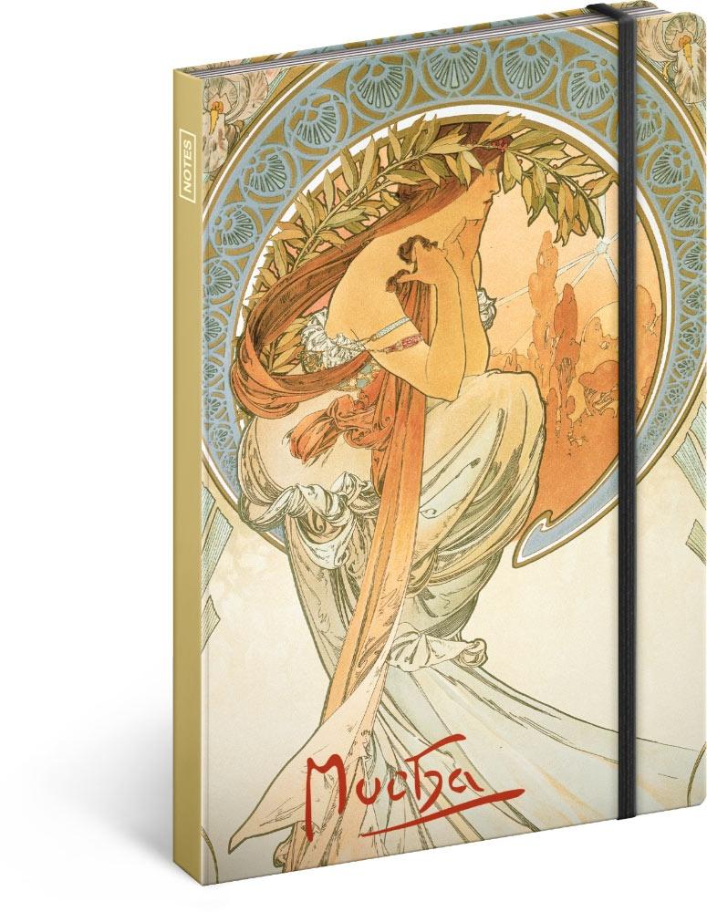 Notes Alfons Mucha - Poezie, linkovaný 2019